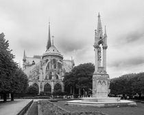 Notre-Dame in Black and White von mvg foto