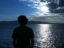 Simone watching the sea by Andrea Liuzza