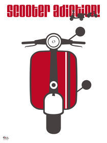 Scooter Red von Iván Fernández