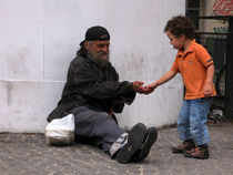 Homeless and child by Andrea Liuzza