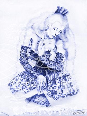 Spanierin-blau