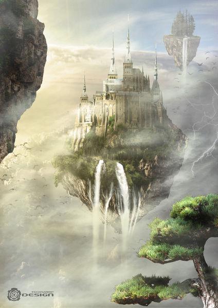 Sky castle  Digital Ar...