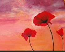 Poppies painting by Anca Damian