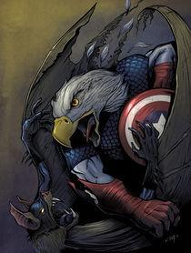 Captain America vs. Batman by Brian Allen