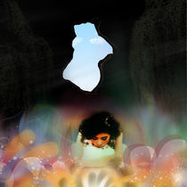 Girl in cave von intan wong