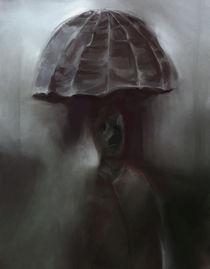 Man in rain von Yves Allaire