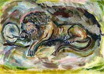 Of a dying lion(Eines sterbenden Löwen) by Myungja Anna Koh