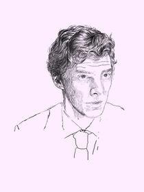 Drawing Of Benedict Cumberbatch von Karin Idering
