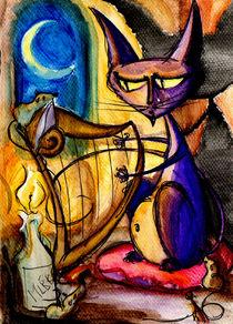 Lonely Cat by Aleksandra Baranska