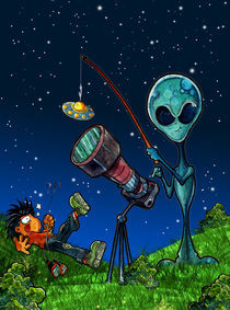 Aliens and geeks 02 - Ufos are a fake. von Luis Peres