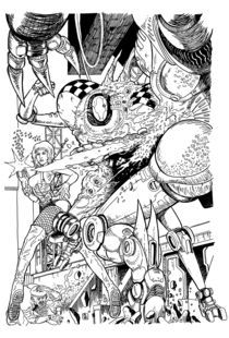 robot attack  by Alfa Robbi