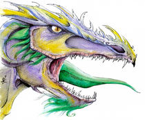 Dragon-acuarelas