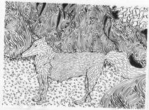 Meeting the wolf (in detail) von Noushka Woszczylo