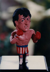 Inspired Rocky sculpture by Joaquin Carrasquilla