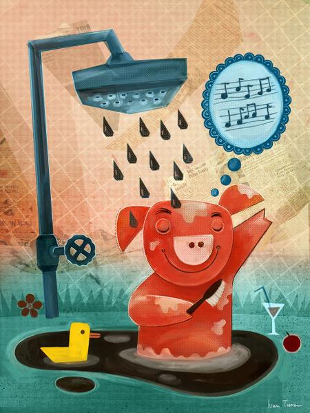 Bathing-pig