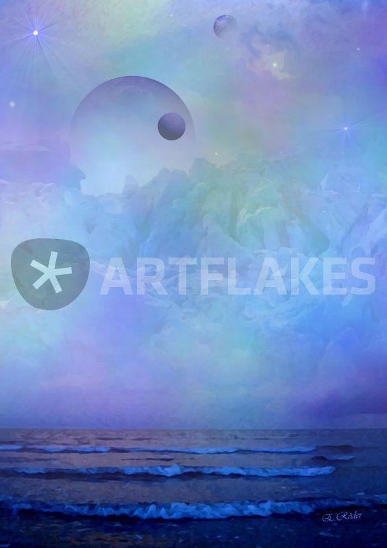 Unter Fernen Sternen Asgard Digital Art Als Poster Und Kunstdruck
