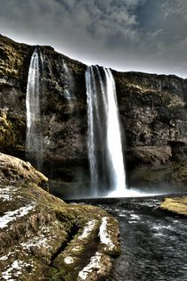 Waterfall Iceland by Simeon Jones