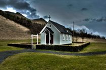 A small church, Iceland by Simeon Jones