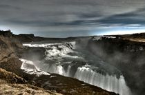 Gulfoss Waterfall Iceland by Simeon Jones