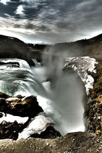 Gulfoss Iceland by Simeon Jones