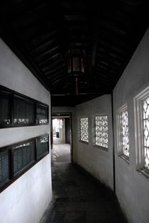 Corridor, lingering garden, China by Simeon Jones