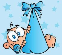 Baby Boy In Bundle Background  von hittoon