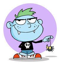 Cartoon Happy Vampire Kid  by hittoon