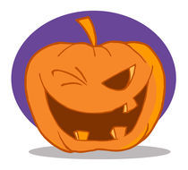 Halloween Pumpkin Character Winking  von hittoon