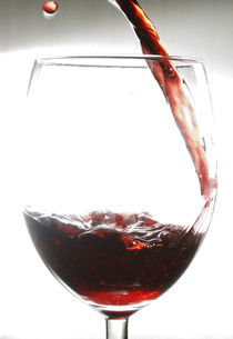 Red Wine with Drop by Andrea Capano