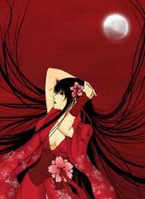 Red Moon Geisha by eternal-s