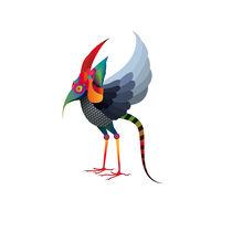 Fairy Tale Bird Creature von Daria Zazirei