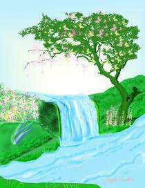 Mystical Waterfall by Gayle  Sadler