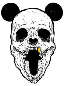 Panda skull x Gold fang von kdot-panda