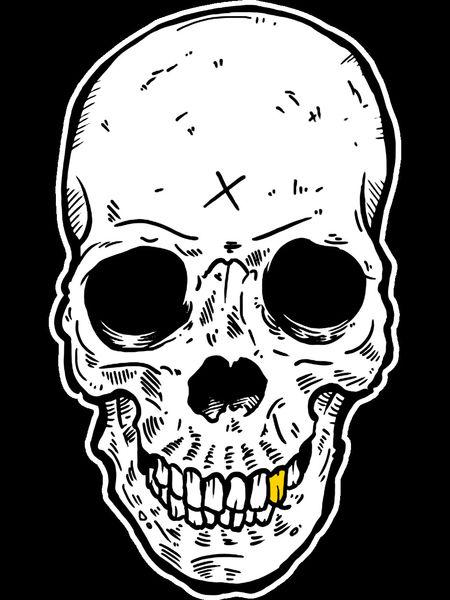 Redbubble-tee-template-skull