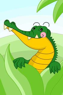 Krokodil fürs Kinderzimmer by Michaela Heimlich