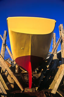 Drydock boat repair, Matha's Vineyard, USA von John Greim