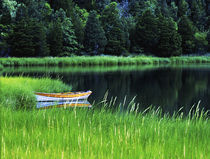 Rowboat on Pond by John Greim