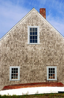Boat and boathouse, Chatham, Cape Cod by John Greim