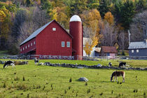 Red Barn, Vermont, USA by John Greim