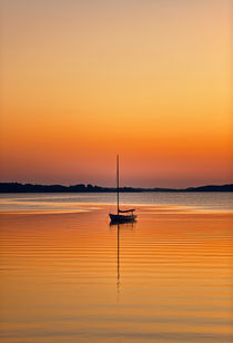 Sailboat at Sunset by John Greim