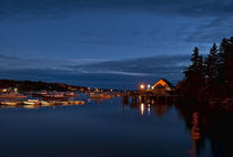 Harbor at night, Maine, USA von John Greim