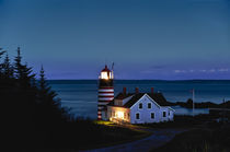 West Quoddy Head Light , Maine, USA by John Greim