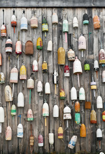 Lobster buoys, Maine, USA by John Greim