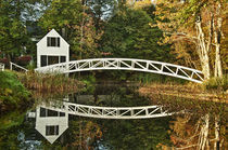 Footbridge, Somesville, Maine, USA von John Greim