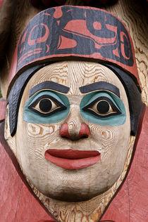 Totem pole detail, Alaska by John Greim
