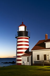 West Quoddy Head Light , Lubec, Maine, USA by John Greim