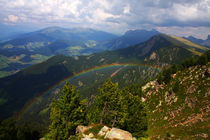 Regenbogen im Tal von Wolfgang Dufner