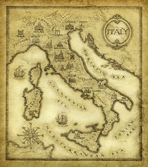 Map of Italy by yaroslav-gerzhedovich
