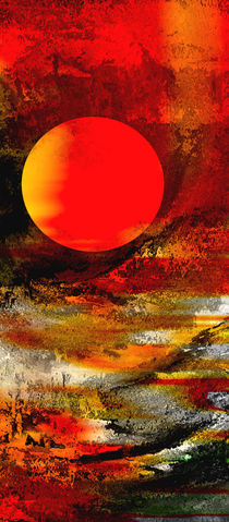 Abstraktion Mond von Matthias Rehme