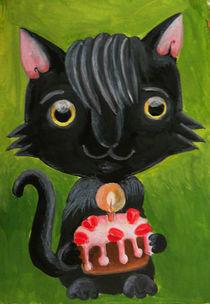 birthday cat by Anna Ivanova